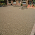Porous Rubber Mulch Pathways in Adversane 1