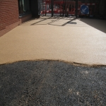 Porous Rubber Mulch Pathways in Aston Ingham 3