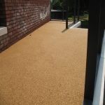 Resin Bound Driveway Surfacing in Spon Green 1