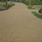 Porous Rubber Mulch Pathways in Anelog 6