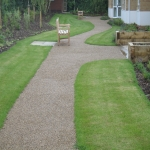 Porous Rubber Mulch Pathways in Alway 7