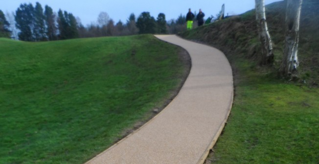 EPDM Rubber Pathway Surfacing in Broadmoor Common