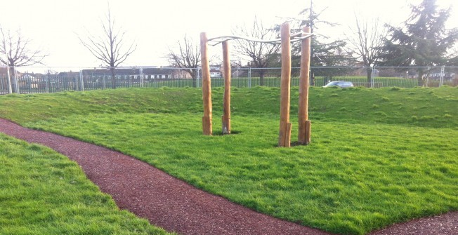 Rubber Mulch Walkway in Fewston Bents