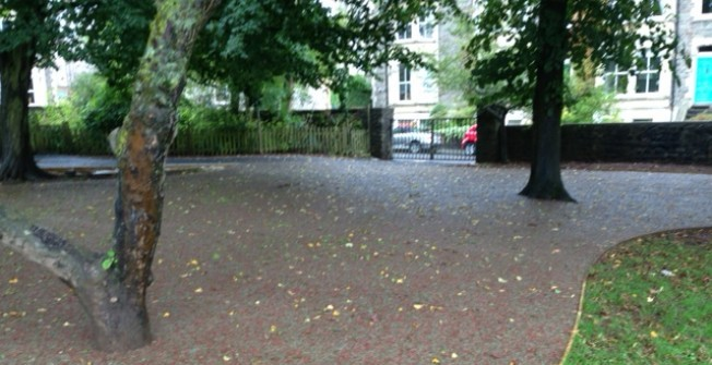 SuDS Rubber Mulch Path in London