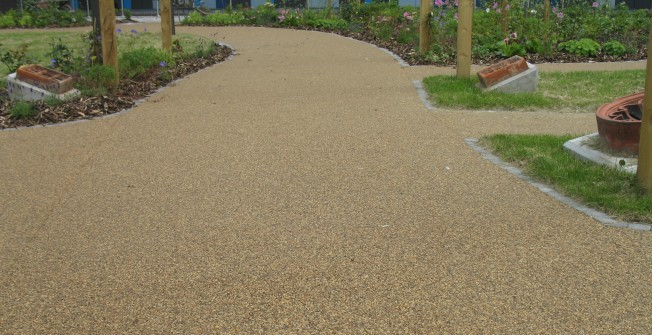Porous Stone Paving in Bridge Ball